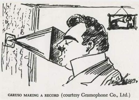 Caruso mentre registra