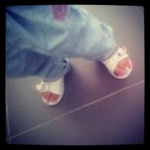 Liloute aime les sandales