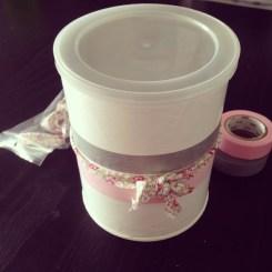 pot blédine peint décoré