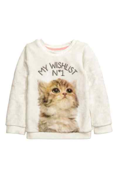 sweat peluche hm 9€99