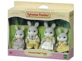 famille lapin gris sylvanian