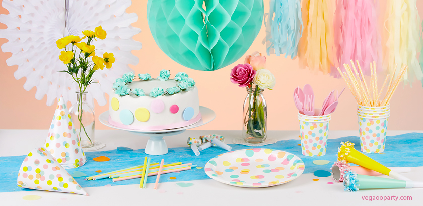 anniversaire pastel decoration