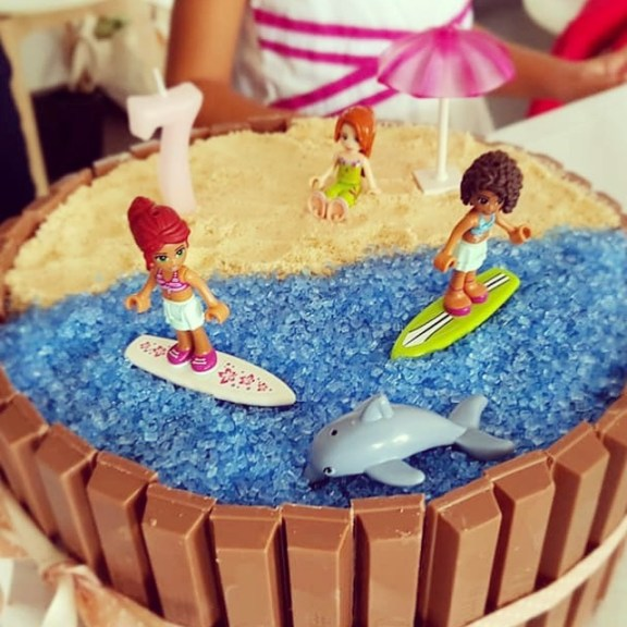 gateau facile lego friends