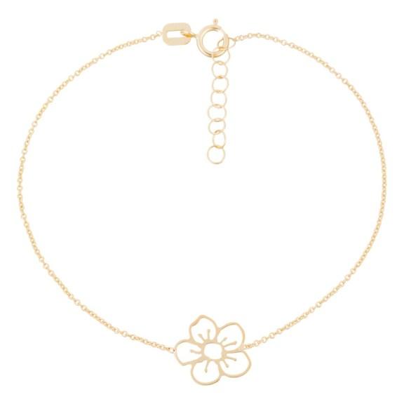 bracelet-or-jaune-fille-fleur-doree
