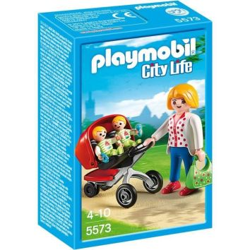 poussette playmobil jumeaux