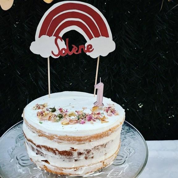 nude cake arc en ciel terracotta