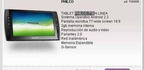 Tablet Philco TL7A 7 en Argentina, Precio y Características 1