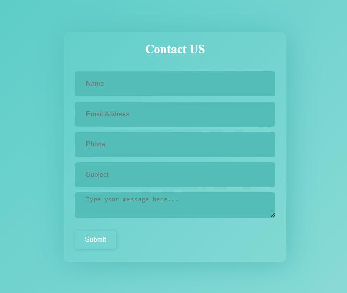 Contact Form Design