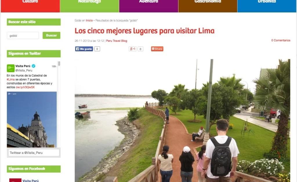 Los cinco mejores lugares para visitar Lima y La experiencia Iquitos, en el blog oficial de turismo de Perú