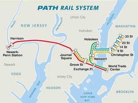 El metro Path, útil para llegar al aeropuerto de Newark