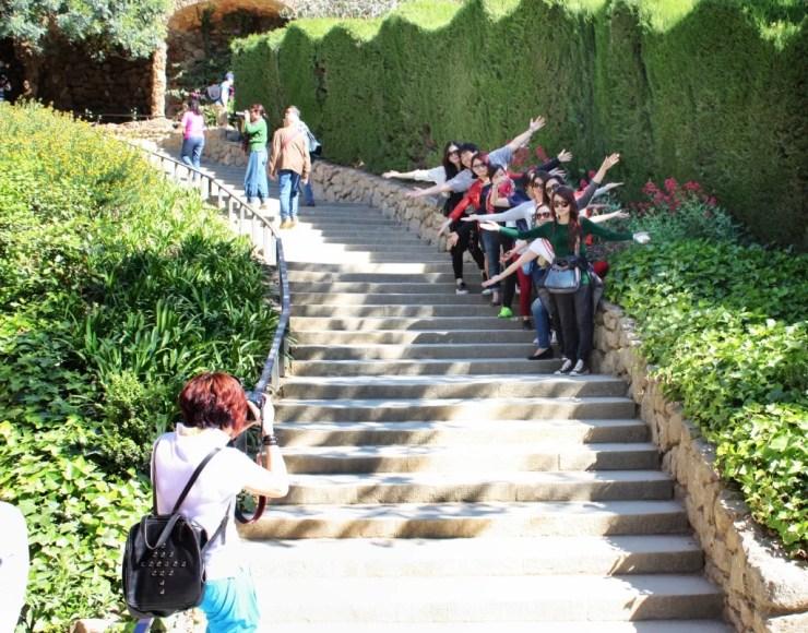 Turistas en Park Güell