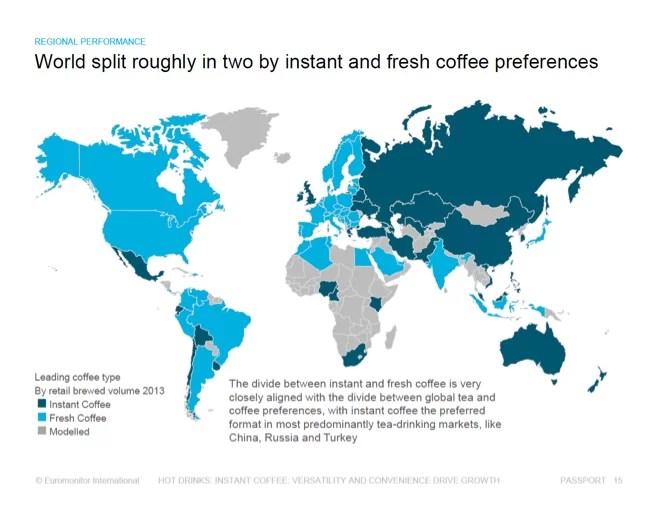 Mapa del consumo de café