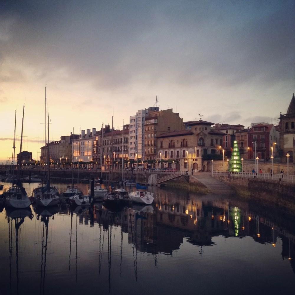 Atardecer en Gijón