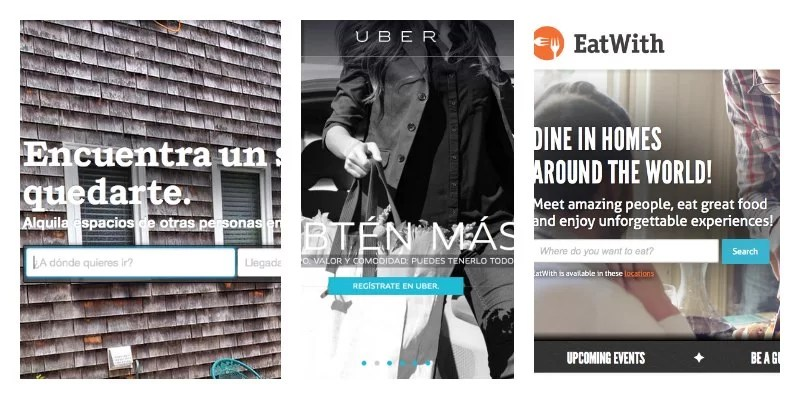 AirBNB + Uber + Eatwith