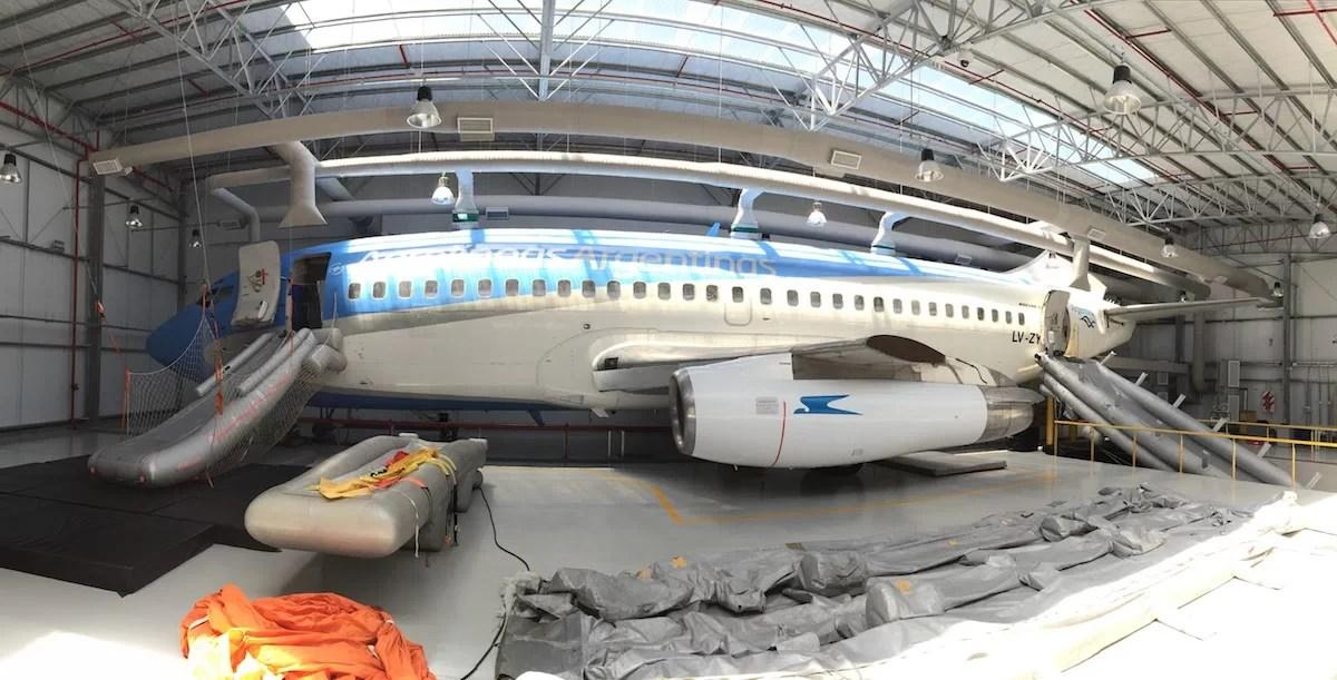 Visita al Centro de Entrenamiento de Aerolíneas Argentinas