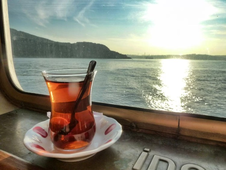 Té con vista al Bósforo, Estambul