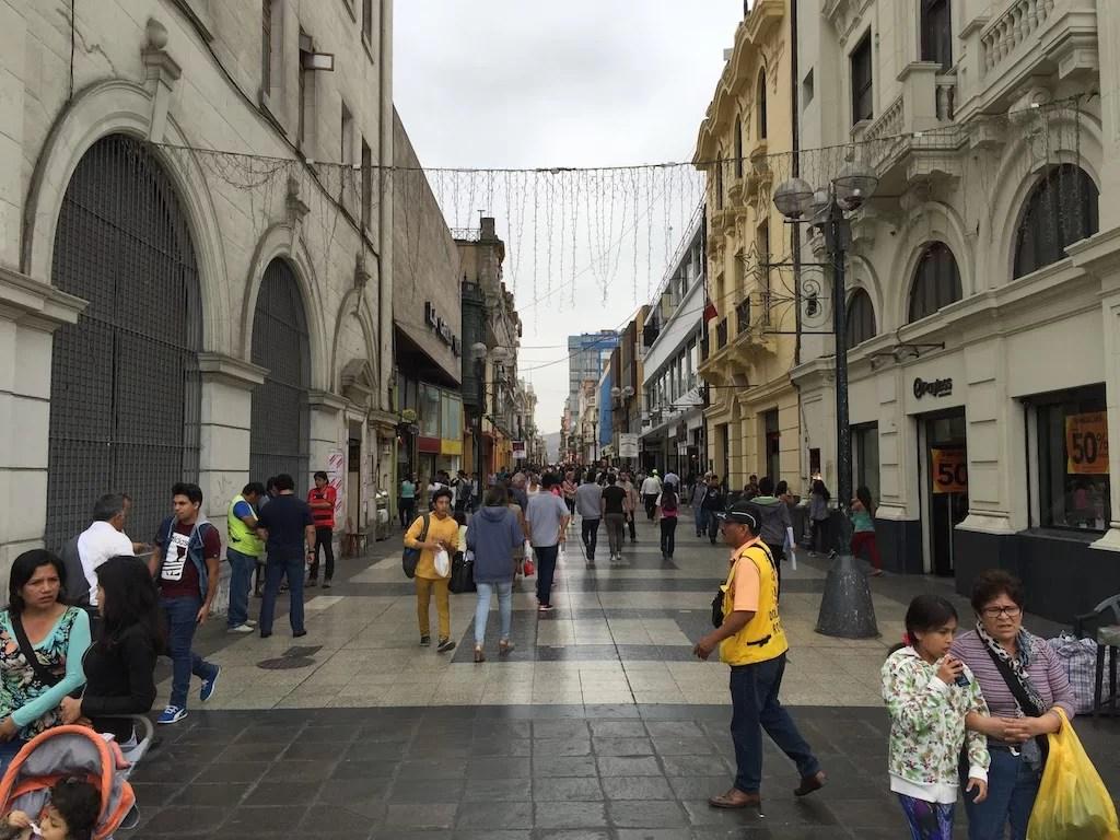 Jirón de la Unión, Lima