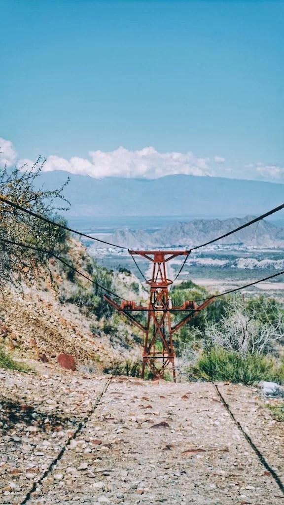 Cablecarril La Mejicana, Chilecito, La Rioja.