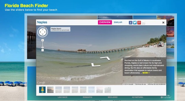 Playas de Florida en Google Street View