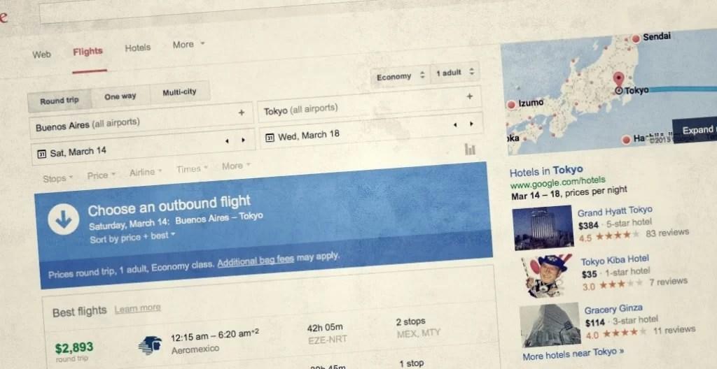 Google Flights sale de beta