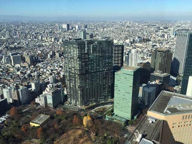 Tokio vista desde Tokyo Metropolitan Government Building
