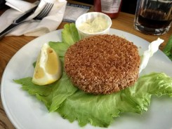 Salmon and dill fishcake
