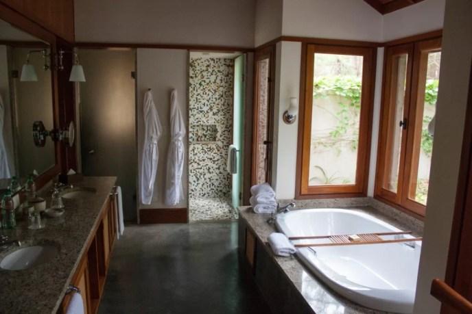 Baño de los bungalows
