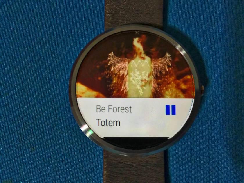 Moto 360, integración con Spotify