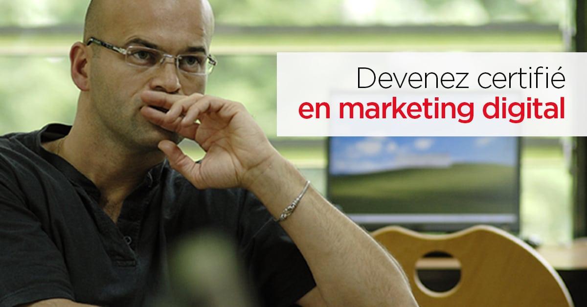 Marketing digital: valorisez vos compétences avec un certificat