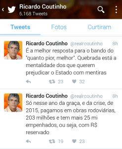 """RC nega """"quebradeira"""" do Estado e ataca: """"Quebrada está a mentalidade de quem quer prejudicar a PB"""""""