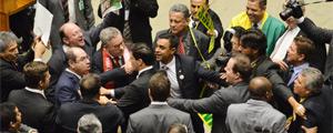 Madrugada pré-votação tem troca de agressões entre deputados na Câmara Federal