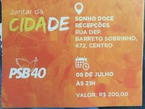Após vazamento de jantar de adesão do PSB, Ricardo Coutinho manda cancelar evento