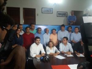 Ao lado de Cida Ramos, Wilson Filho confirma que será o vice da socialista
