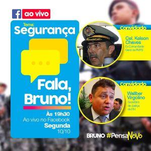 Deputado promove debate sobre segurança com Cel Kelson e Wallber Virgolino pelo Facebook