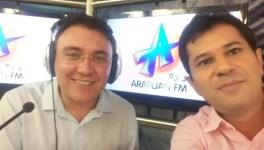 Vereador apresenta votos de aplauso a apresentadores da Arapuan pela liderança no Ibope