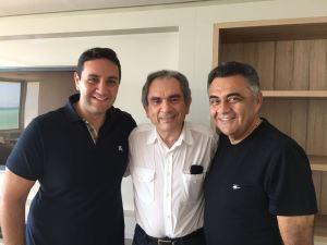 Márcio e Julys Roberto anunciam apoio a ala do PMDB liderada por Lira