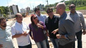 Vereadores de oposição inspecionam obra da Beira Rio e cobram agilidade da PMJP