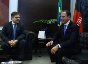 Cássio se reúne com João Dória e destaca amizade com prefeito de São Paulo