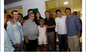 Ao lado de Cássio e Rômulo, Romero visita Amparo e Ouro velho