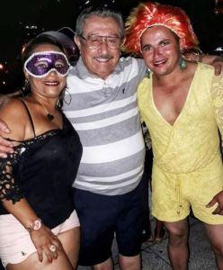 """Em pré-campanha, Maranhão prestigia bloco """"Virgens de Tambaú""""; veja as fotos"""