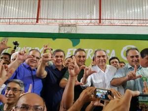 Ao lado de Cássio, Rômulo e Lira, PV empossa nova diretoria e oficializa pré-candidatura de Lucélio ao governo