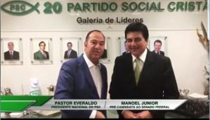 Vídeo: Em Brasília, presidente nacional do PSC referenda Manoel Júnior como pré-candidato ao Senado