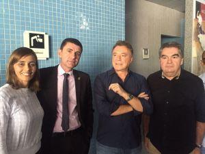 Lindolfo Pires recebe pré-candidato à Presidência da República Alvaro Dias na Paraíba