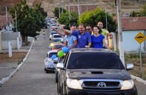 Manoel Ludgério é recebido com carreata e festa em São Domingos do Cariri