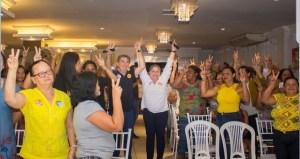 Em Sapé: Lindolfo Pires participou de plenária que reuniu mais de 700 mulheres