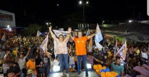 Lindolfo Pires e Luiza Nascimento reúnem multidão em inauguração do comitê na cidade de Sapé
