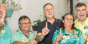 Em João Pessoa, ex-vereadores Marco Antônio, Benilton Lucena e Zé Bezerra abraçam reeleição de Aguinaldo Ribeiro