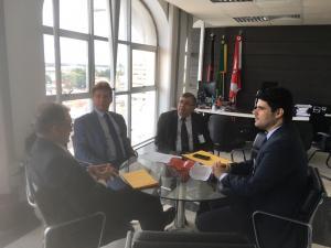 Galego Souza participa de audiência com presidente do TJPB e solicita juiz titular para Comarca de São Bento