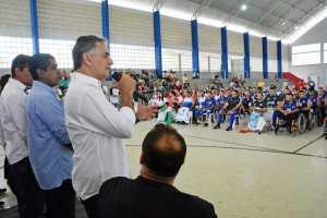 Luciano Cartaxo abre oficialmente Campeonato Brasileiro de Vôlei Sentado e evento acontece até este domingo