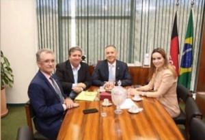 Aguinaldo e Daniella Ribeiro atendem pleitos de Galego Souza e prefeito do Sertão, em Brasília